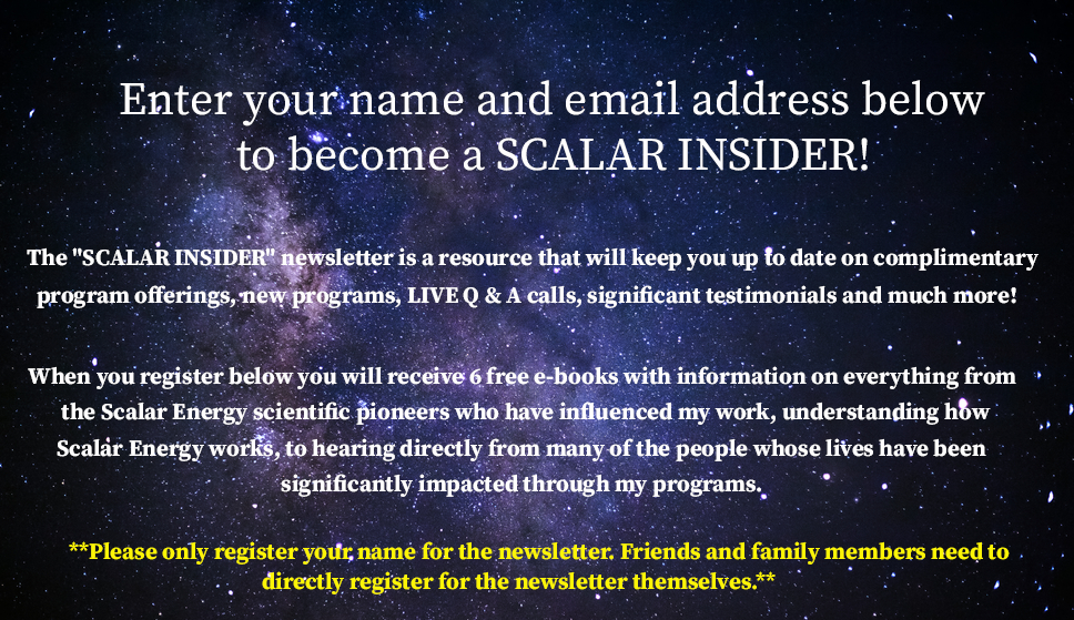 Enter your name and email address below to become a SCALAR INSIDER!